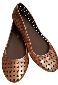 Divided by H&M Cut-out Bronze Metallic Brown Flats