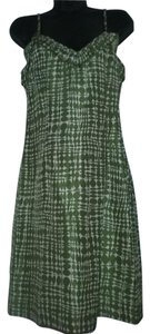 Trina Turk Green Silk Silk Print Spaghetti Strap Dress