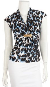 Roberto Cavalli Top White & Blue