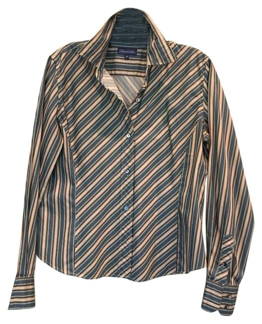 Preload https://item3.tradesy.com/images/faconnable-multi-blue-green-and-brown-button-down-top-size-10-m-19649332-0-1.jpg?width=400&height=650