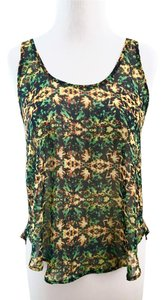 Lush Kaleidoscope Sheer Abstract Top Multi-colored