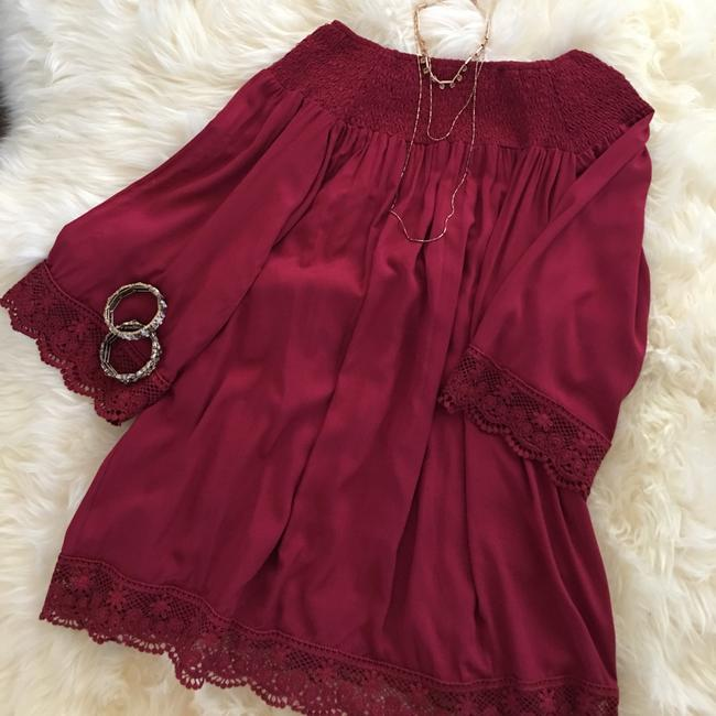 Classic Paper Doll short dress Burgundy on Tradesy