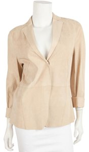 Akris Punto Tan Leather Jacket