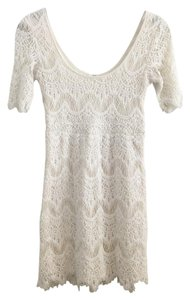 Pins and Needles short dress Ivory Lace Boho Urban Outfitters on Tradesy