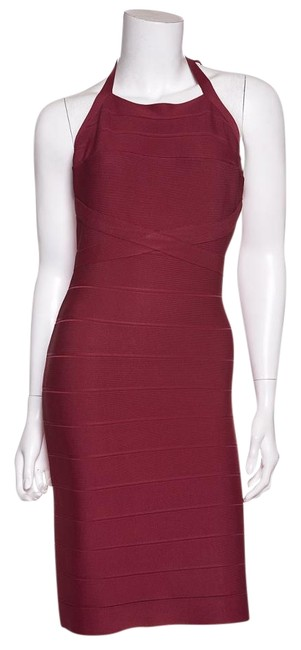 Preload https://img-static.tradesy.com/item/19649464/herve-leger-cranberry-bandage-short-night-out-dress-size-8-m-0-1-650-650.jpg