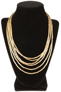 H. Stern Extra Long 18K Gold Barrel Station Chain Necklace