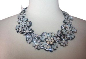 J.Crew J.CREW FABRIC-BACKED CRYSTAL CLUSTER NECKLACE