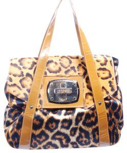 Just Cavalli Leopard Cowhide Fall Shoulder Bag