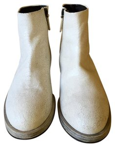 Settima Leather Made In Italy Italian Low Heel white Boots - item med img
