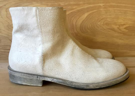 Settima Leather Made In Italy Italian Low Heel white Boots