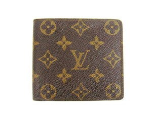 Louis Vuitton Vintage Monogram Canvas Leather Bifold Wallet w/ Box