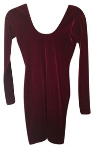 American Apparel short dress Burgundy Velvet on Tradesy