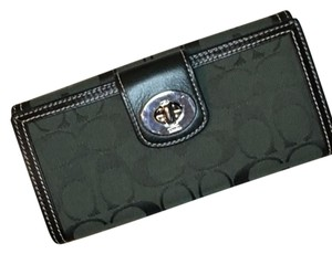 Coach SIGNATURE C TURNLOCK WALLET NEW GREEN