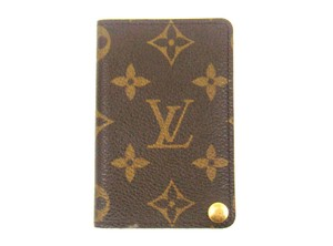 Louis Vuitton Monogram Canvas Leather Card Case Slim Wallet France w/ Box