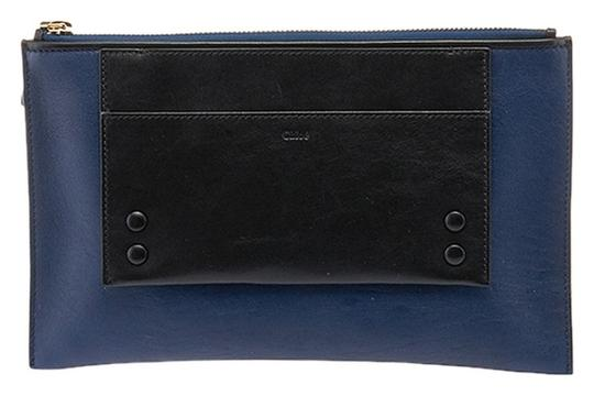 Preload https://img-static.tradesy.com/item/1964982/chloe-and-32276-navy-blue-and-black-leather-clutch-0-0-540-540.jpg