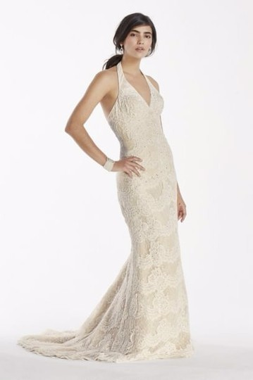 Preload https://item2.tradesy.com/images/david-s-bridal-champagne-polyester-and-lace-galina-signature-trumpet-gown-swg691-vintage-wedding-dre-19650011-0-0.jpg?width=440&height=440