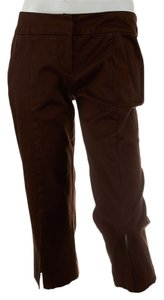 Trina Turk Cotton Capri Capri/Cropped Pants Brown