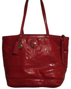 Coach Tote in Coral