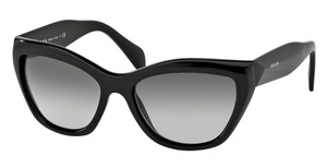 Prada Prada POEME SPR02Q Sunglasses PR02QS Black 1AB0A7 Authentic