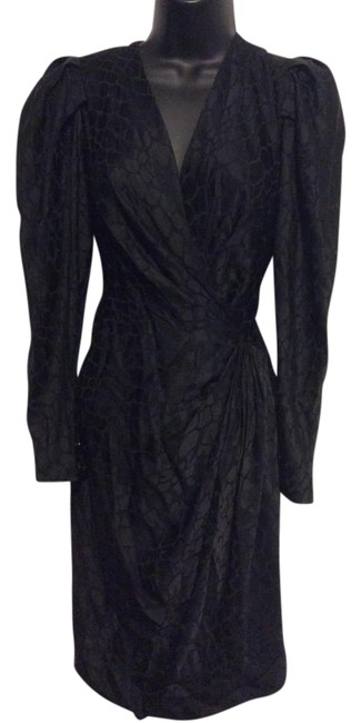 Preload https://item3.tradesy.com/images/andrea-odicini-black-faux-wrap-knee-length-cocktail-dress-size-8-m-19650677-0-1.jpg?width=400&height=650