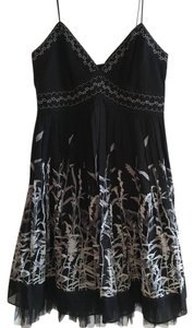 BCBGMAXAZRIA Floral Tutu Empire Waist Embroidered Dress