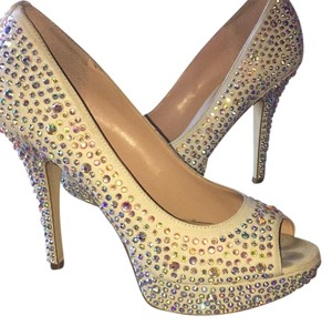 Enzo Angiolini Silver , White , Crystals , Sparkle Platforms