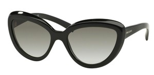 Prada Prada SPR08R Sunglasses PR08RS Black 1AB0A7 Authentic