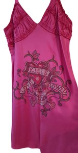Ed Hardy Silk Rhinestone Ruffles Dress