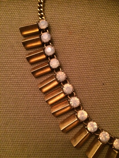 J.Crew J Crew Gold and Pink Statement Necklace