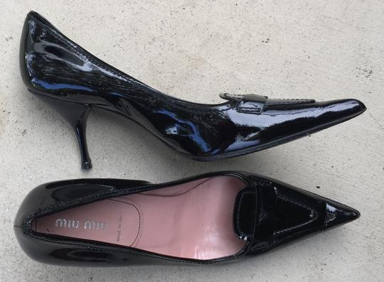 Miu Miu Euro Size 39 Leather Black Patent Pumps