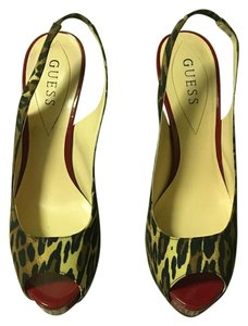 Guess Red & Leopard Pumps