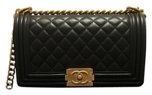 Chanel Boy Gold Hardware Medium Flap Shoulder Bag