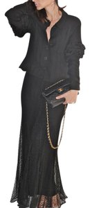 Chanel Long Maxi Skirt Black