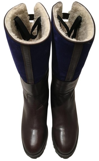 Unützer Leather Blue Navy Suede Winter Boots