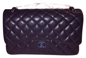 Chanel Navy Blue Jumbo Caviar Purse Brand New With Tag Authentic 2015 Shoulder Bag