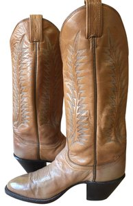 Tony Lama Western Horseback Riding wheat Boots