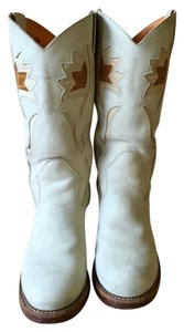 Frye Western Cowboy Leather white Boots