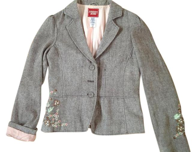 Preload https://item5.tradesy.com/images/guess-brown-with-blush-pink-jeans-jacket-blazer-size-12-l-19651484-0-1.jpg?width=400&height=650