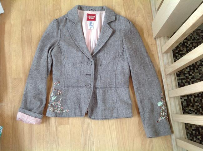 Guess Floral Embroidery brown with blush pink Blazer
