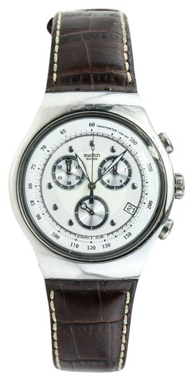Preload https://item5.tradesy.com/images/swatch-irony-chronograph-leather-watch-19651489-0-1.jpg?width=440&height=440