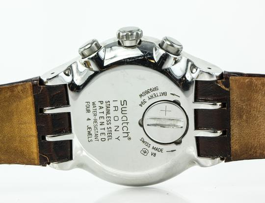 Swatch * irony Chronograph Leather Watch