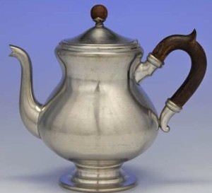 Pewter Antique Tea Set