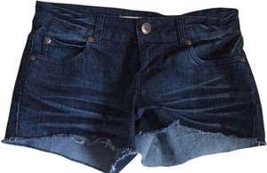 Forever 21 Denim Cut Off Shorts blue