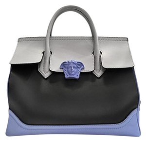 Versace Leather Satchel in Tricolor