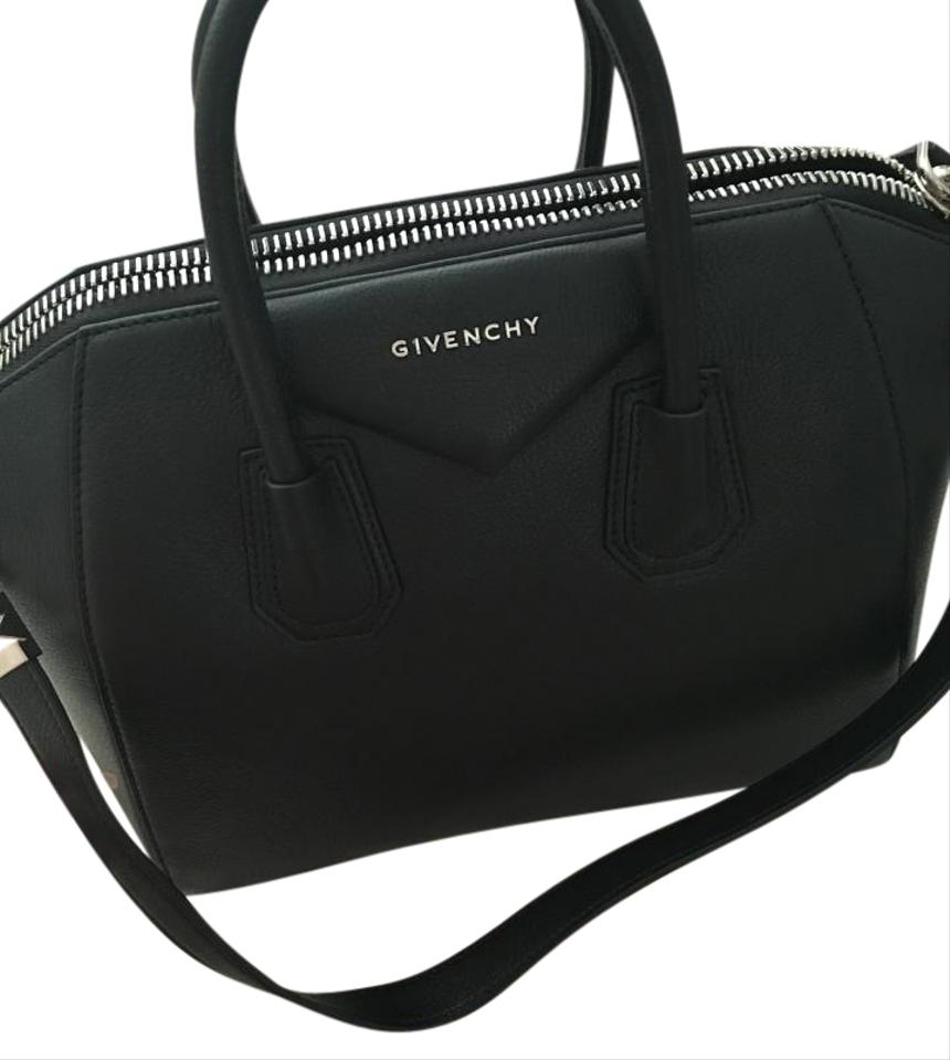 7f4ba8fd09 Givenchy Antigona Medium Matte Black Leather Satchel - Tradesy