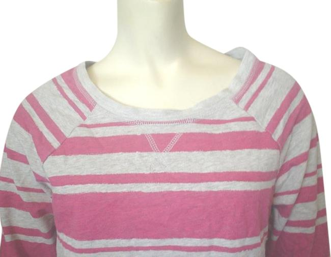 Sonoma Striped T Shirt Gray Pink