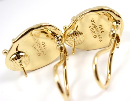 Tiffany & Co. Vintage Solid 18K Gold LARGE Scarab Clip On Stud Earrings