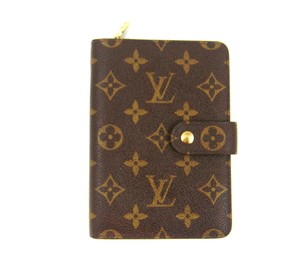 Louis Vuitton Porte Papier Zippy Monogram Canvas Leather Clutch Wallet w/ Dustbag