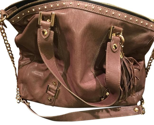 Juicy Couture Taupe Leather Hobo Bag Juicy Couture Taupe Leather Hobo Bag Image 1