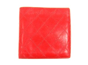 Chanel Red Quilted Leather Bifold Mens Wallet France